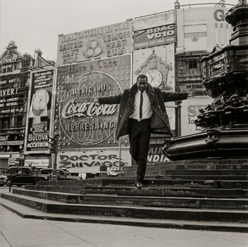 James Barnor Mike Eghan at Piccadilly Circus, London 1967