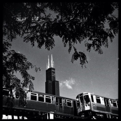 #iphone #hipstamatic #chicago #cta #el #train #willistower (Taken with Instagram)