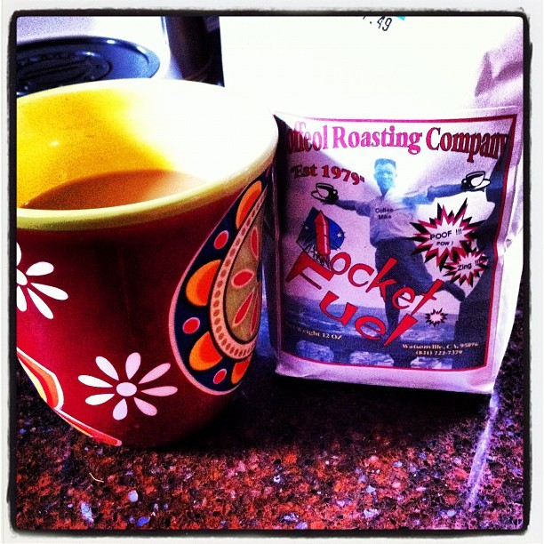 Rocket fuel coffee. Good morning!! (Taken with Instagram at Our humble abode )