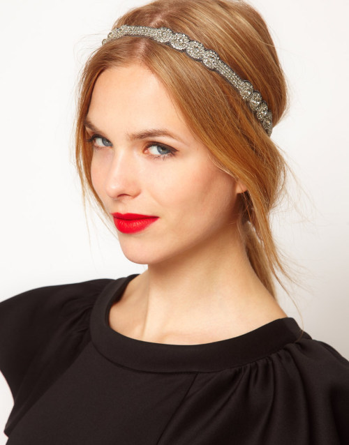 Deepa Gurnani Gunmetal Statement Crystal Stretch HeadbandMore photos & another fashion brands: bit.ly/JgPMpF