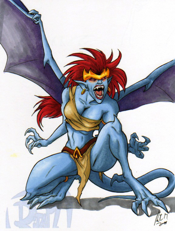 2011 Demona by Rita M by ~Tewateroniakwa  This amazing drawing of Demona was done by the talented Rita M. Original line work found here: [link] All I did was pretend I know how to color.