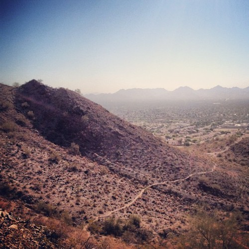 Great #morning #hike today with @passionforpast. #instagramaz #arizona #phoenix #happy #nature #outside #climb (Taken with Instagram at Shadow Mountain Preserve)