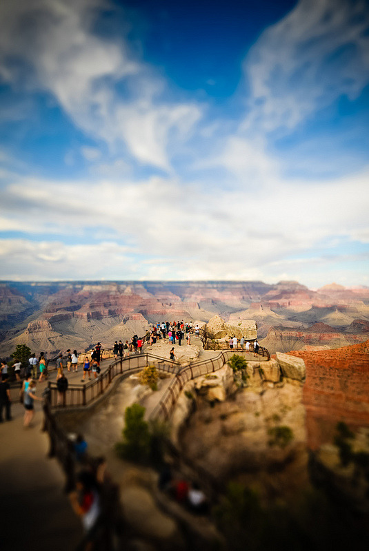 Grand Canyon, Arizona, USA - Tiltshift