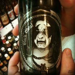 Black metal ale?!