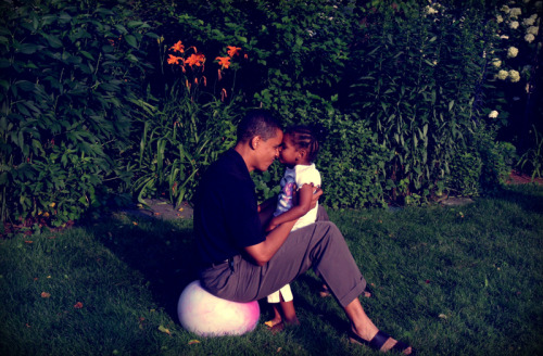 barackobama:  Here's to dads.  The cuteness killed me. i miss my dad *tries hard not to cry* *fails and starts ugly crying*