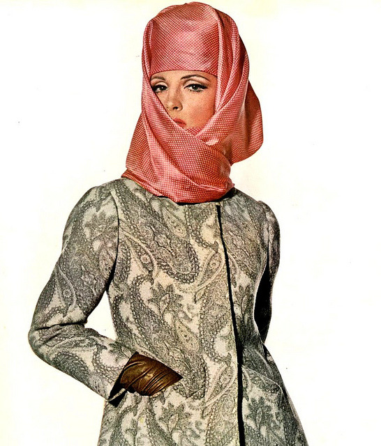 Balenciaga coat and Halston hat by Classic Style of Fashion (Third) on Flickr.