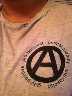 "My Propagandhi shirt my friend Adam gave me a gazillion years ago. He said ""this reminds me of you."". Awesome. :)"