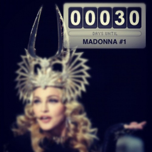 1 month until MADONNA!!!  (Taken with Instagram)