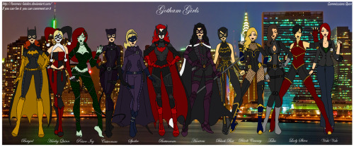 Gotham Girls Redesigns by *Femmes-Fatales
