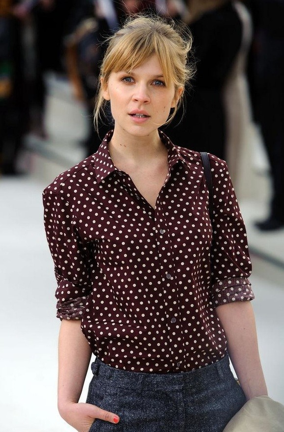 thegreatgracie:  Clémence Poésy in perfect polka dots