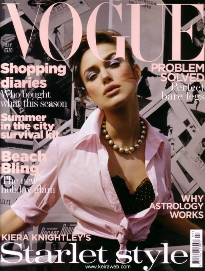 from the archives: Keira Knightley covers Vogue UK July 2004 photo by Tesh