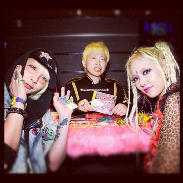 iampoisonivory:  These are my friends. They just don't know it. #harajuku  #kawaii  #punk  (Taken with Instagram at Harajuku, Japan)   Left to right - Nico (DJ), Ken (Broken Doll) & Mary (model/singer)!