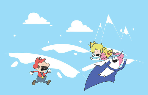 insanelygaming:  Mario's Adventure  Created by Scott Weston Now available on RedBubble