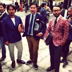 Bold print? These guys get it #londoncollections #attheshows  (Taken with Instagram)