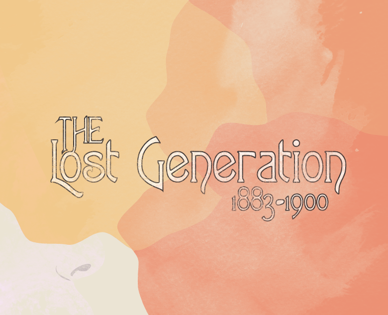 The Lost Generation  The Lost Generation, primarily known as the Generation of 1914 in Europe, is a term originating with Gertrude Stein to describe those who fought in World War I. The members of the lost generation were typically born between 1883 to 1900.  Generations is a set of images illustrating the eight groups of generations in the Western world. Each image is illustrated in homage to one of the main artistic styles popular during the birth of that generation.