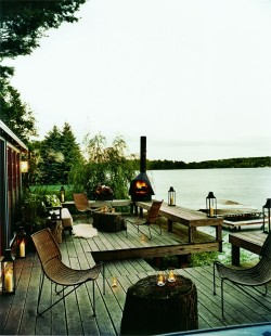 georgianadesign:  Lake house designed by Thom Filicia.