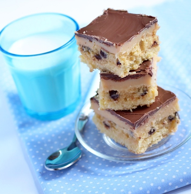 Cookie dough billionaire bars - shortbread,caramel,cookie dough and chocolate. Nothing to add.
