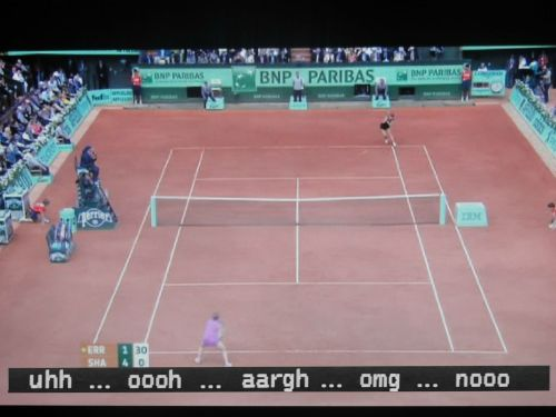 and then i turned on the subtitles during the women's final…