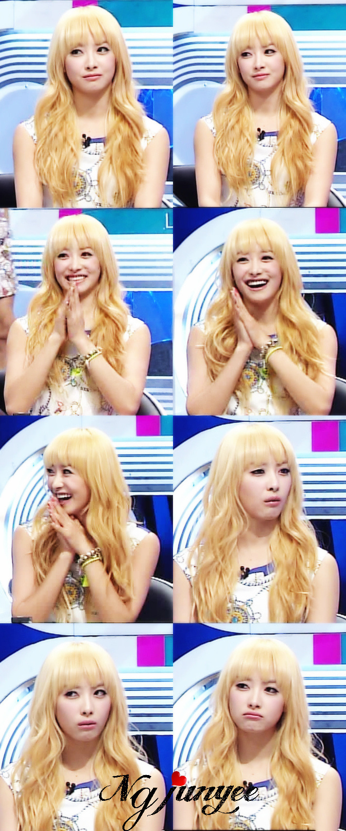 welovevictoria:  [SCREENCAPS] 120615 Victoria @ SBS '100 Million Quiz Show' Cr: 小Jun君eEeElectricshock Original pics: 1 | 2 | 3