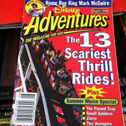 #disney #adventures…did anyone else read these? Check out the date also 1998! (Taken with Instagram)