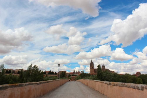 Beautiful clouds hovering over Salamanca. Salamanca, Spain. 2012.