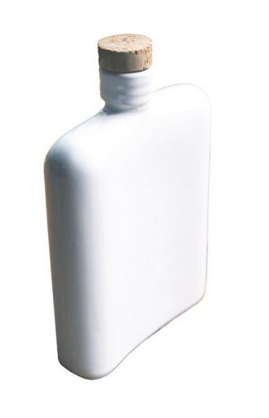 White Ceramic Hip Flask