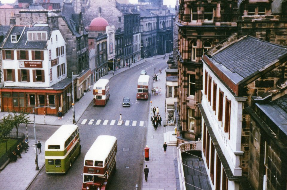 idothisallthetime:  Nicolson Street, Edinburgh, 1968.Photo by George Hunter.