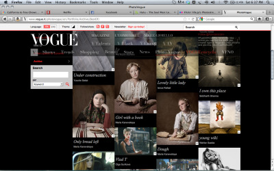So incredibly wonderful to see my work up on vogue.it.