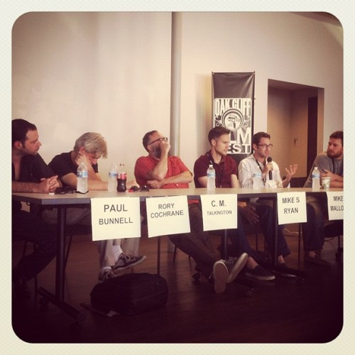 adamdonaghey:  Indie filmmaking panel! Rory stayed in town so he's a bonus! #ocff2012 (Taken with Instagram)