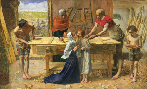 fuckyeahpreraphaelites:  Christ in the House of His ParentsJohn Everett Millais1849-50
