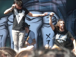 "big-tapp:  Vic Fuentes and Kellin Quinn singing ""King For A Day"" at Warped Tour 2012 on June 16 in Salt Lake City"