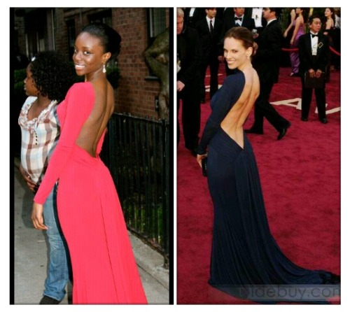 Prom '12. A remake of Hilary Swank's red carpet dress ^_^