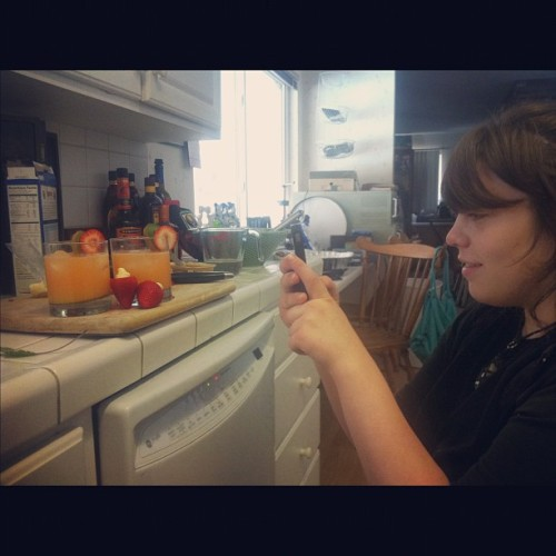 me instagraming Mikayla instagramming lolololololll:) (Taken with Instagram)