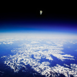 Bruce McCandless made the first untethered space walk on February the 7th 1984 by Tianxiao Zhang