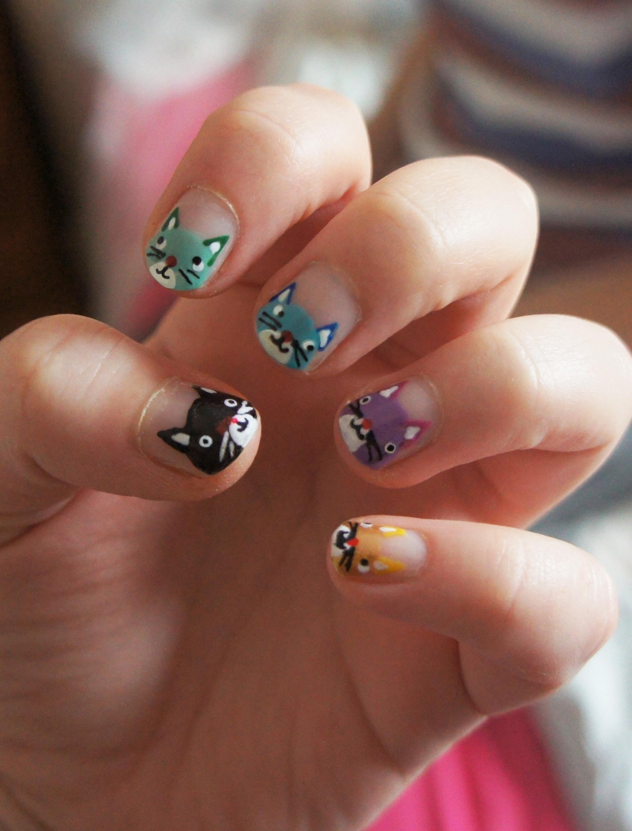 sophiebryant-funnell:  and some cat nails I did agessss ago, they were so cute!