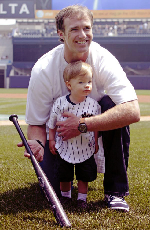 Happy Father's Day - Saints QB, Drew Brees & son Baylen