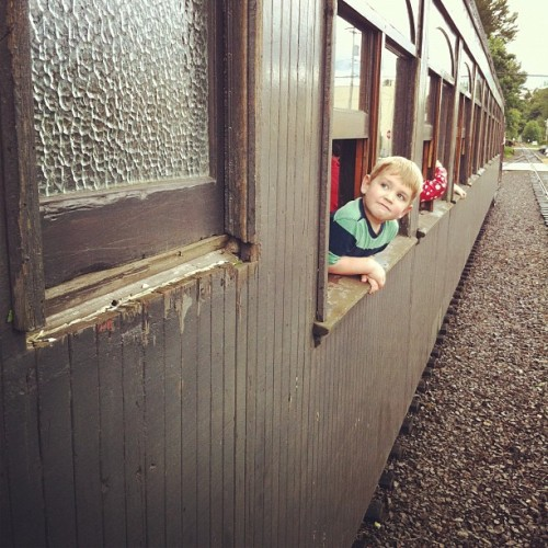 Father's Day train ride.  (Taken with Instagram at Northwest Railway Museum)