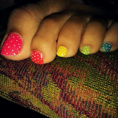 Painted my toes last week… (Taken with Instagram)