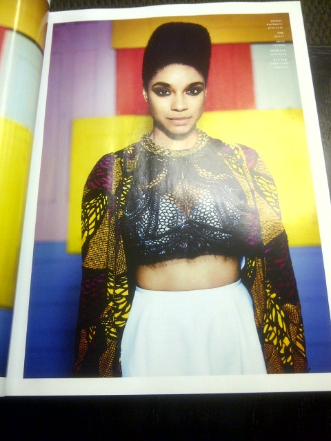 Burberry Prorsum sure looks good on Liane La Havas.