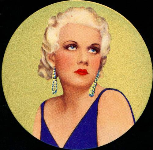 "Circular Cigarette Card - Jean Harlow  Rothman's Cigarettes, ""Beauties of the Cinema"" 1939 - Jean Harlow"