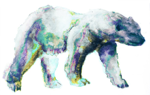 bgarbee:  polar bear. markers/watercolors/multimedia. brendan garbee
