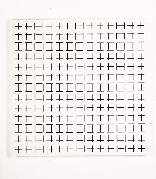 futureproofdesigns:  2 Trames de Tirets Simple  Francois Morellet 1974 museumuesum