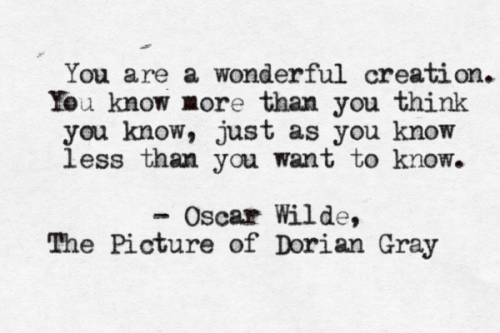 typewrittenword:  The Picture of Dorian Gray by Oscar Wilde