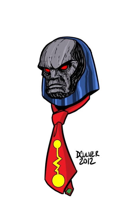 dennisculver:  HAPPY FATHER'S DAY, MORTALS.  TIE! TIE! TIE FOR DARKSEID! A lot of people seem to think that Darkseid is the worst dad in comics but who is worse? The god of all evil or the dad that sends his son to live with the god of all evil? (answer: Highfather)  This is a great drawing first and foremost, but also? Dennis kind of has a point here.