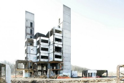 socks-studio:  Claude Prouvé's recently demolished Experimental Building of SIRH | ArchDaily