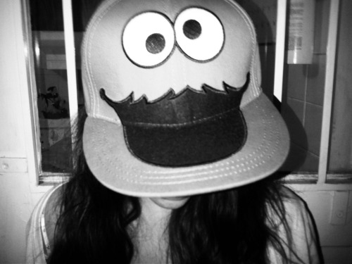The #gangster cookie monster cap.