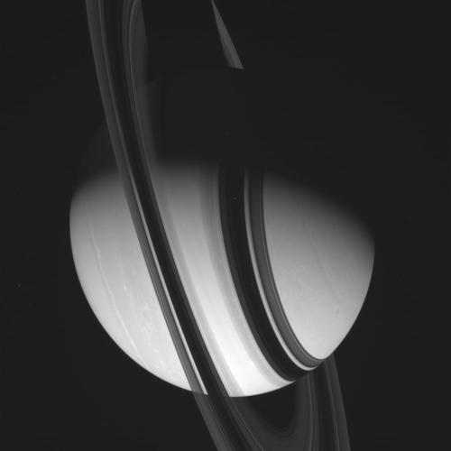 the-star-stuff:  Saturn, Raw This astonishing image was taken on June 13, 2012 by the Cassini spacecraft when it was 2.6 million kilometers (1.6 million miles) from the ringed planet — that's more then six times farther than the Moon is from the Earth.  Image credit: NASA/JPL/Space Science Institute.