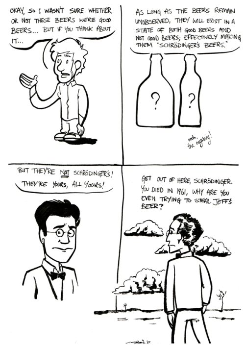 I drew this dumb little comic, and set it next to some beers which I'd covered up with a towel. Happy fathers' day, to all the dads and almost-dads out there! I hope your kids got you all something better than what I got my dad >_>