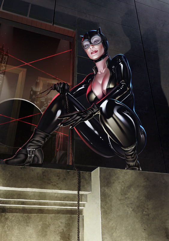 comicsforever:  Catwoman // artwork by Casey Heying (2012)