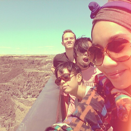 qryz:  @misdeeds @faizrosli @lincolnjesser (Taken with Instagram at Twin Falls County Fairgrounds)  Yezzzzzz. Twin Falls you gave us a glimmer of joy during today's tiresome drive!